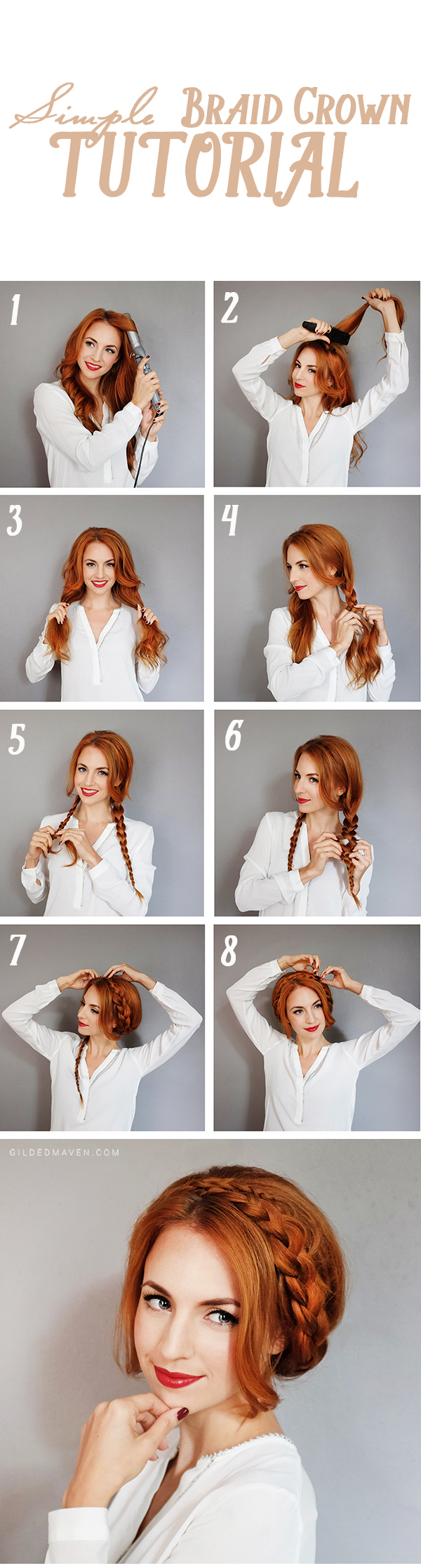Braid Crown Tutorial - Gotta PIN THIS! I had no idea this was SO EASY! Gilded Maven via gildedmaven.com