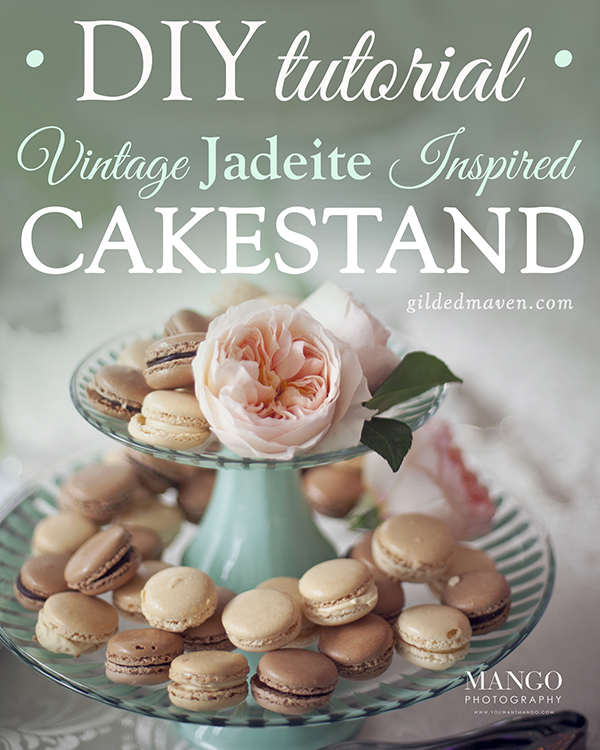 Personalized CAKE STAND TUTORIAL!! Perfect idea for a #wedding reception! GildedMaven.com