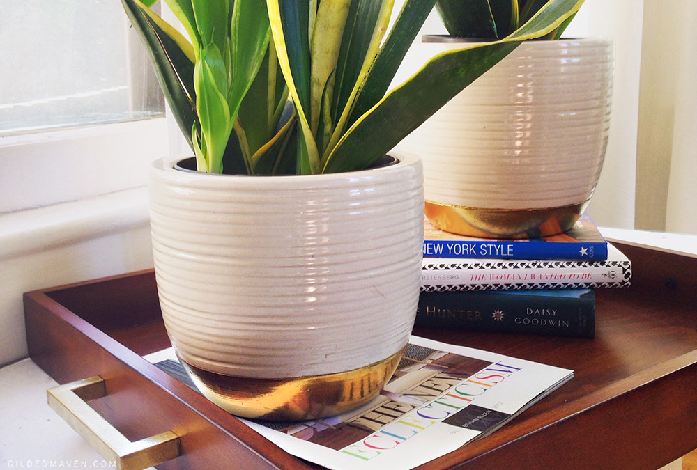 GILDED PLANT POT TUTORIAL