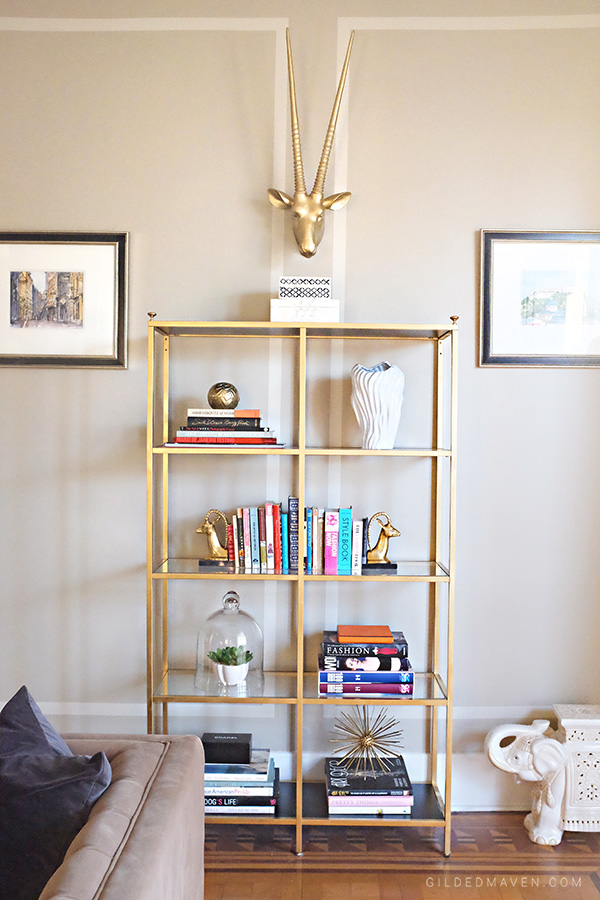 DIY Hollywood Regency Gold Ikea Shelf Hack!