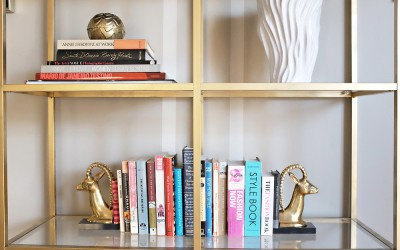 DIY GOLD HOLLYWOOD REGENCY SHELF – IKEA HACK