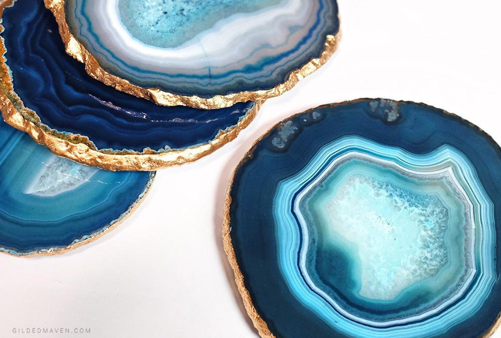 GILDED AGATE COASTER TUTORIAL