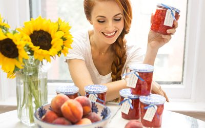 EASY PEACH RASPBERRY FREEZER JAM
