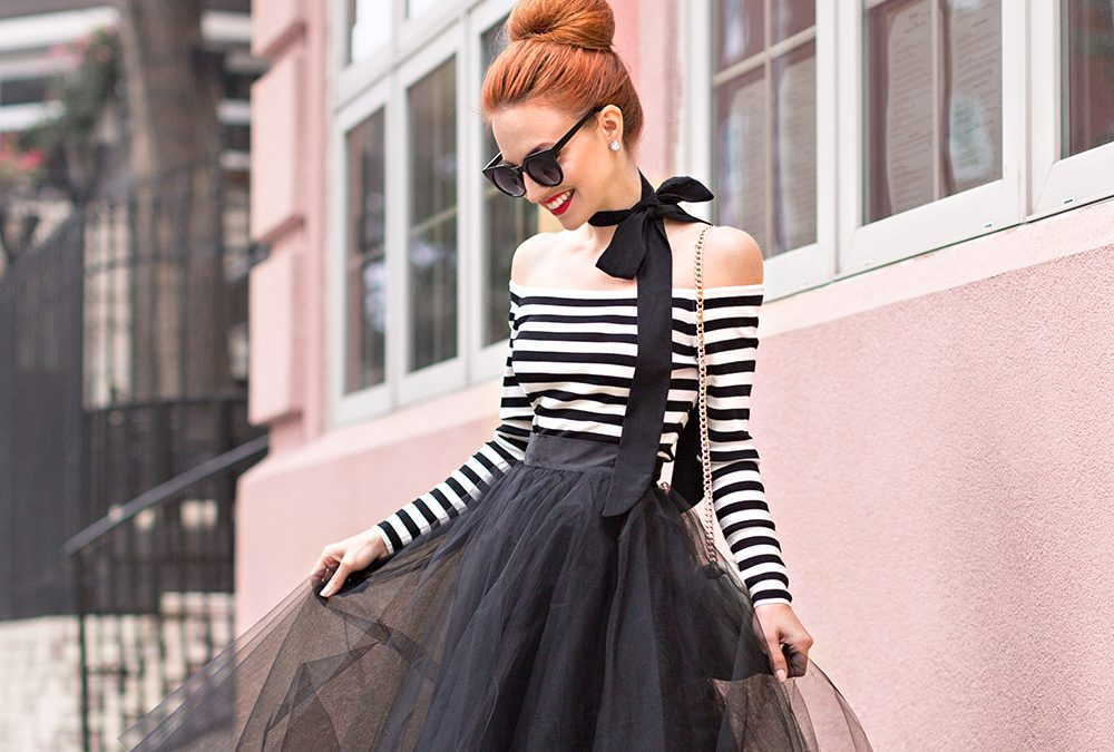 PARISIAN CHIC |  STRIPES and TULLE SKIRTS