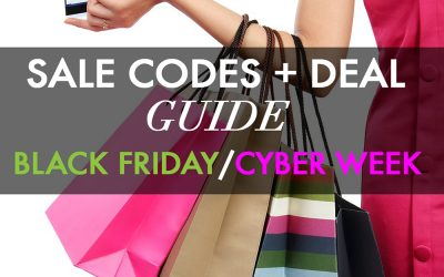 BLACK FRIDAY Coupon Codes & CYBER WEEK 2017