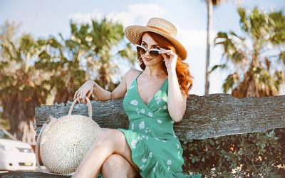 FLORAL GREEN SUNDRESS